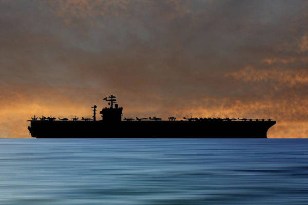 Wall Art - Photograph - Uss John C. Stennis 1995 V3 by Smart Aviation