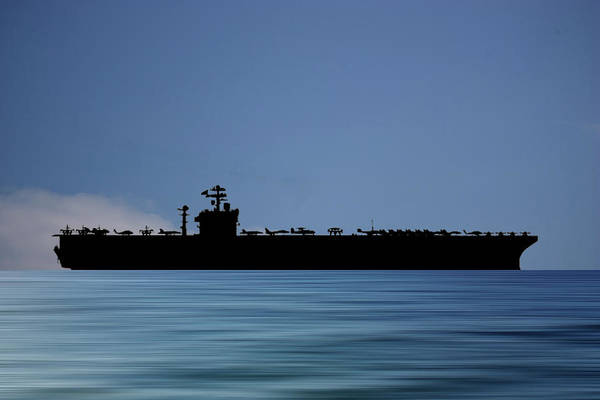 Wall Art - Photograph - Uss John C. Stennis 1995 V4 by Smart Aviation