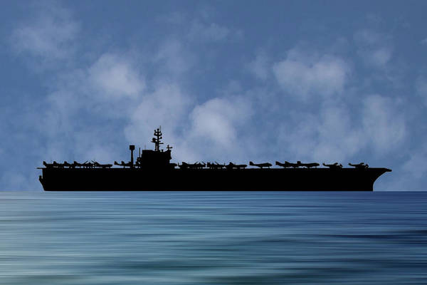 Wall Art - Photograph - Uss John F. Kennedy 1968 V1 by Smart Aviation