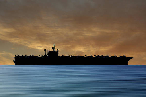 Wall Art - Photograph - Uss John F. Kennedy 1968 V2 by Smart Aviation
