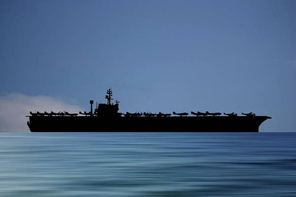 Wall Art - Photograph - Uss John F. Kennedy 1968 V4 by Smart Aviation