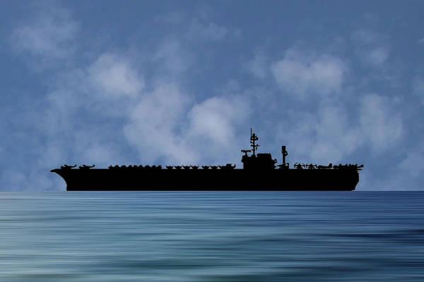 Wall Art - Photograph - Uss Kitty Hawk 1955 V1 by Smart Aviation