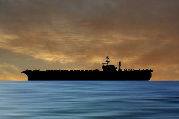 Kitty Wall Art - Photograph - Uss Kitty Hawk 1955 V2 by Smart Aviation