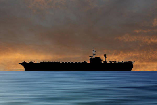 Wall Art - Photograph - Uss Kitty Hawk 1955 V3 by Smart Aviation