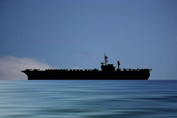 Wall Art - Photograph - Uss Kitty Hawk 1955 V4 by Smart Aviation