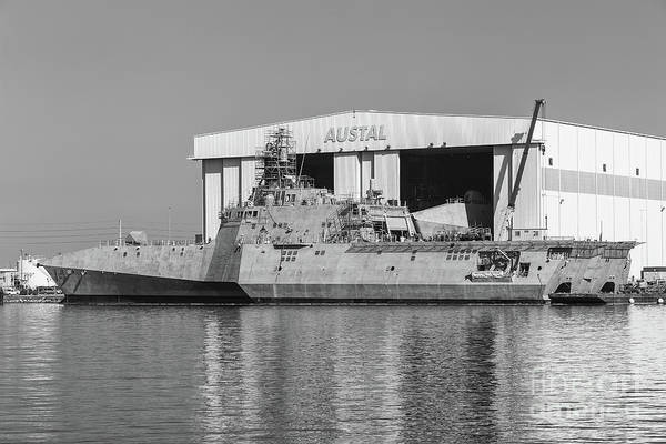 Photograph - Uss Manchester At Austal Shipyard II by Clarence Holmes