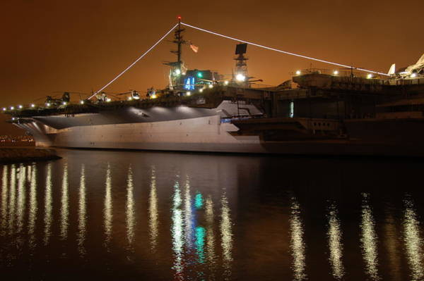 Midway Photograph - Uss Midway by Kelly Wade