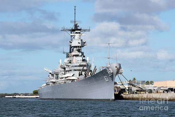 Uss Bowfin Photograph - Uss Missouri At Pearl Harbor by Bill Cobb