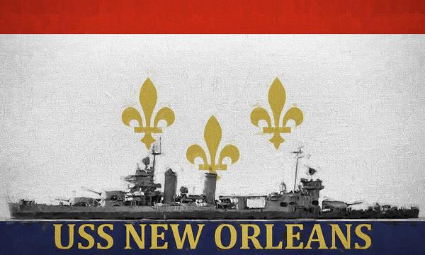 Digital Art - Uss New Orleans by JC Findley