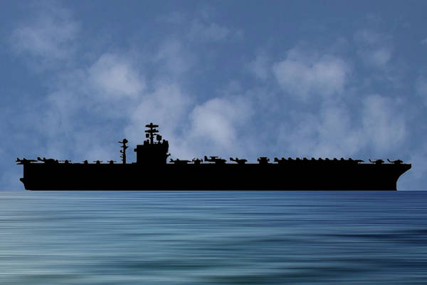 Aircraft Carriers Photograph - Uss Nimitz 1975 V1 by Smart Aviation