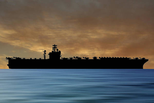 Aircraft Carriers Photograph - Uss Nimitz 1975 V2 by Smart Aviation
