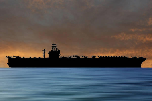 Aircraft Carriers Photograph - Uss Nimitz 1975 V3 by Smart Aviation