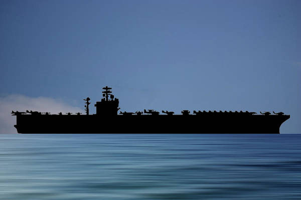 Aircraft Carriers Photograph - Uss Nimitz 1975 V4 by Smart Aviation