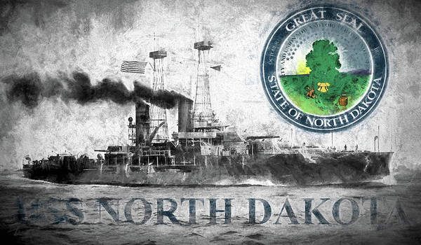 Digital Art - Uss North Dakota by JC Findley