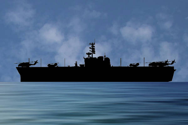 Navy Photograph - Uss Okinawa 1960 V1 by Smart Aviation