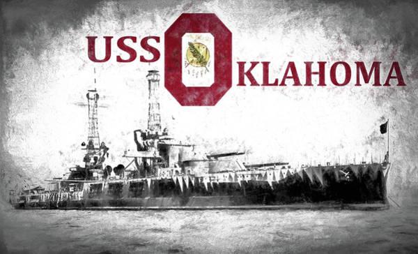 Digital Art - Uss Oklahoma by JC Findley