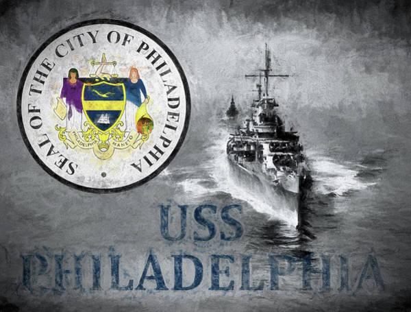Philly Digital Art - Uss Philadelphia by JC Findley