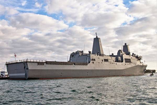 Photograph - Uss Portland Lpd-27 In Key West by Bob Slitzan