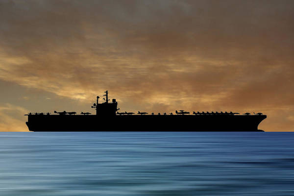 Aircraft Carriers Photograph - Uss Ronald Regan 2003 V2 by Smart Aviation