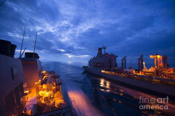 Wall Art - Painting - Uss Ross  by Celestial Images