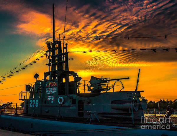 Photograph - U.s.s. Silversides Sunset by Nick Zelinsky