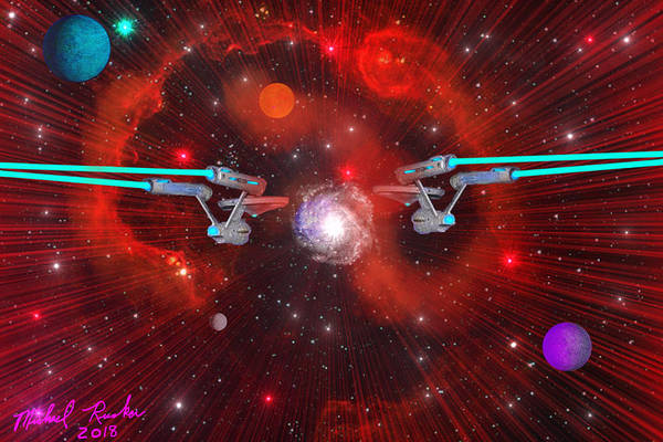 Wall Art - Digital Art - Uss Star Ships by Michael Rucker