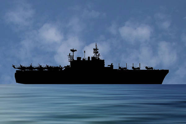 Amphibious Assault Ship Wall Art - Photograph - Uss Tarawa 2009 V1 by Smart Aviation