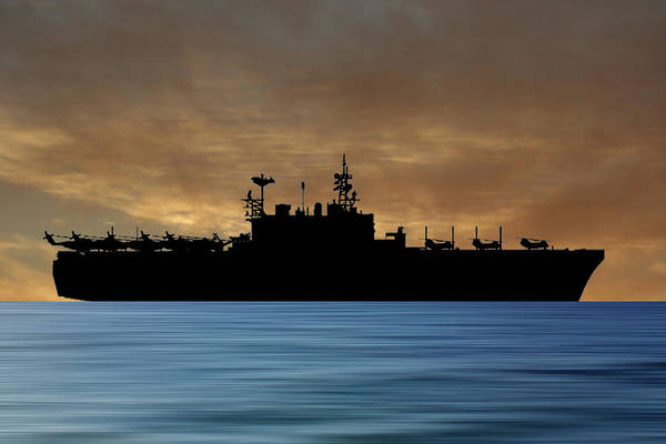 Amphibious Assault Ship Wall Art - Photograph - Uss Tarawa 2009 V2 by Smart Aviation