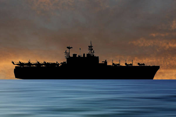 Amphibious Assault Ship Wall Art - Photograph - Uss Tarawa 2009 V3 by Smart Aviation