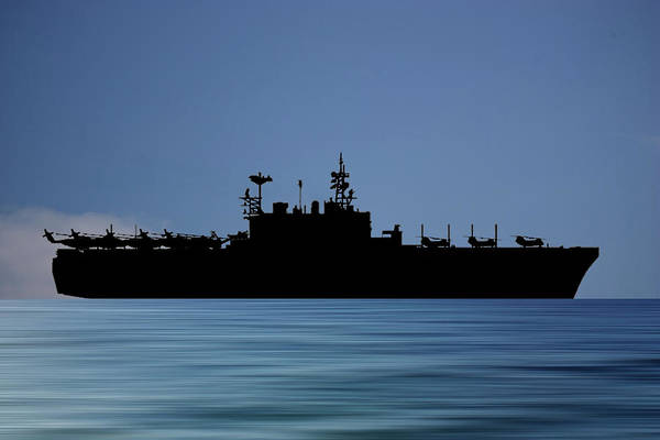 Amphibious Assault Ship Wall Art - Photograph - Uss Tarawa 2009 V4 by Smart Aviation
