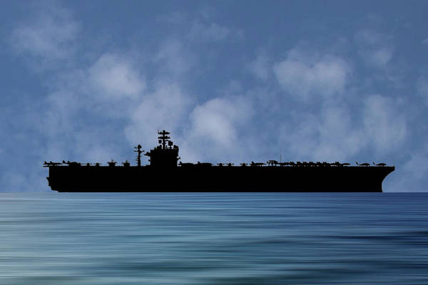 Wall Art - Photograph - Uss Theodore Roosevelt 1986 V1 by Smart Aviation