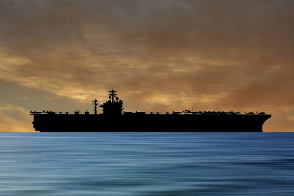 Aircraft Carriers Photograph - Uss Theodore Roosevelt 1986 V2 by Smart Aviation