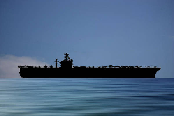 Aircraft Carriers Photograph - Uss Theodore Roosevelt 1986 V4 by Smart Aviation
