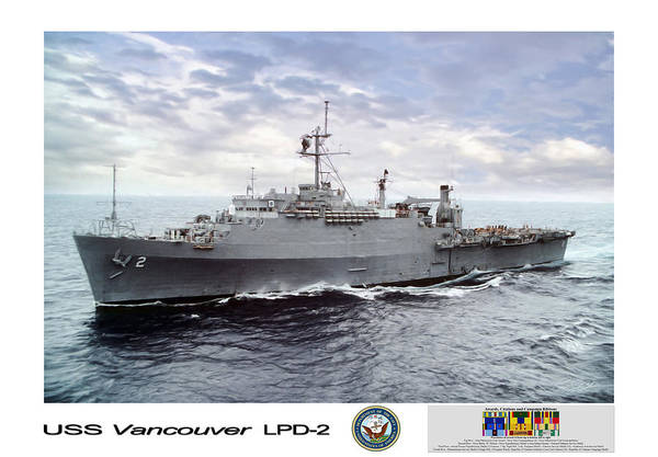 Vancouver Digital Art - Uss Vancouver Lpd-2 by Peter Chilelli