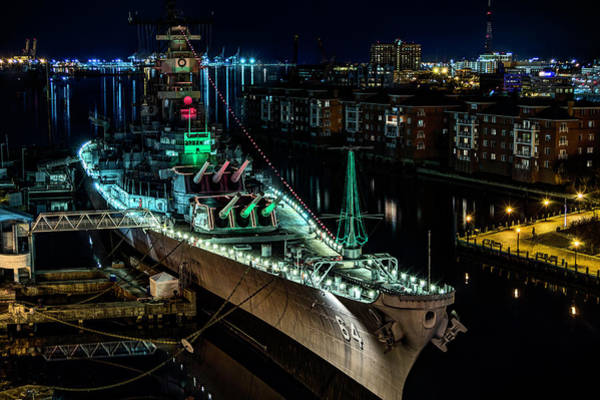Photograph - Uss Wisconsin by Pete Federico