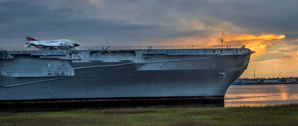 Photograph - Uss York Town by James Woody