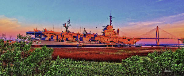 Painting - Uss York Town by Virginia Bond