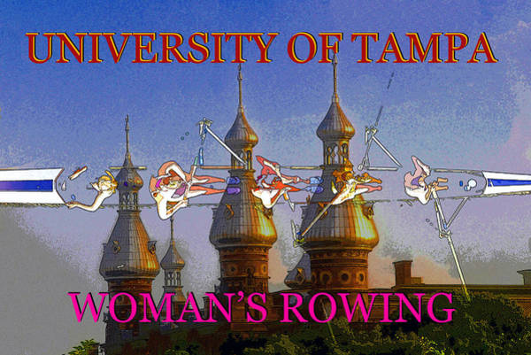 College Campus Painting - Ut Woman's Sports by David Lee Thompson