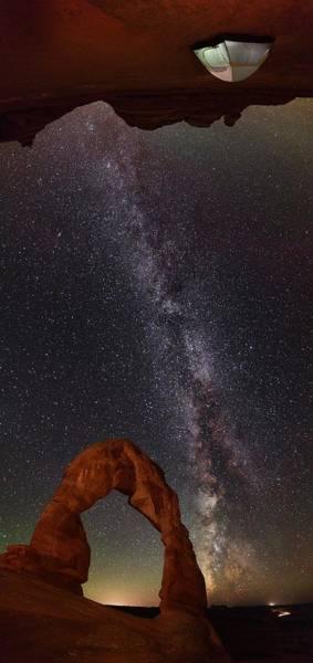 Wall Art - Photograph - Utah Cave Camping by Mike Berenson