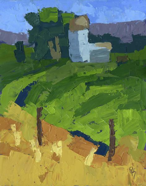 Painting - Utah Farm Abstract by David King