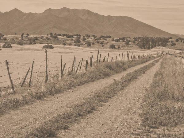 Photograph - Utah Ranch Road Sepia by David King