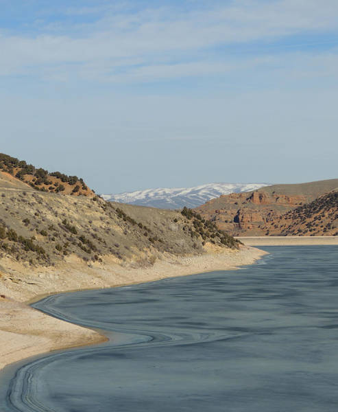 Photograph - Utah Shore Study In March by Andrew Chambers