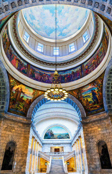 Photograph - Utah State Capitol Rotunda #2 by TL  Mair