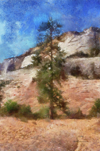 Zion Mixed Media - Utah Trees Zion National Park 08 Pa by Thomas Woolworth