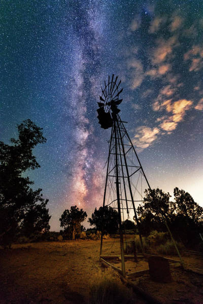Photograph - Utah Windmill And Milky Way by Michael Ash