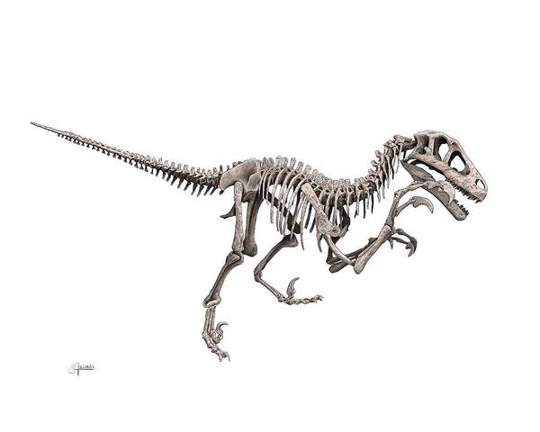 Digital Art - Utahraptor by Rick Adleman