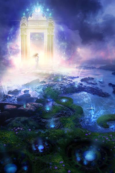 Wall Art - Painting - Utherworlds Passage To Hope by Philip Straub
