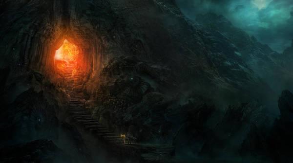 Wall Art - Painting - Utherworlds Threads Of Kirillia by Philip Straub