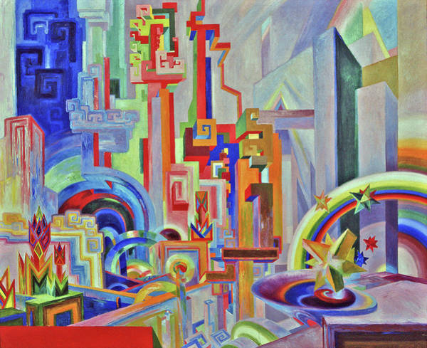 Hallucination Painting - Utopian Buildings by Wenzel Hablik