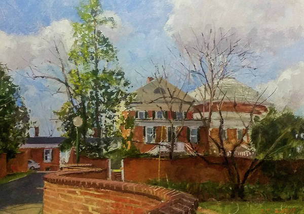 Wall Art - Painting - Uva Gardens And Rotunda by Edward Thomas